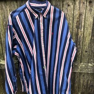 Vintage Ralph Lauren Blake striped button down XL
